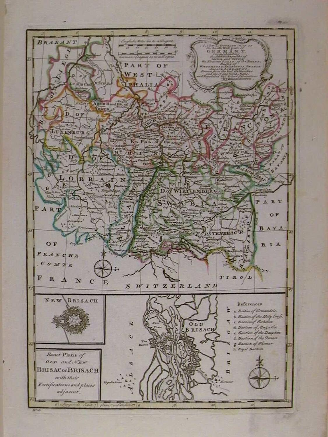 A New and Accurate Map of the South West  part of Germany/ by Emanuel