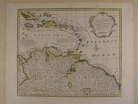 A New and Accurate Map of Terra Firma and the Caribbe Islands by Emanu