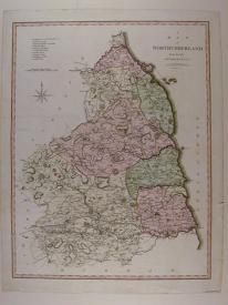 A Map of Northumberland fron the best Authorities by John Cary