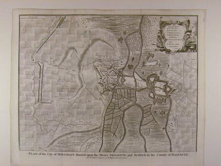 Plan of the City of Bouchain. by Isaac Basire