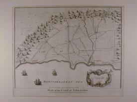 Plan of the Camp of Tarragona by Isaac Basire