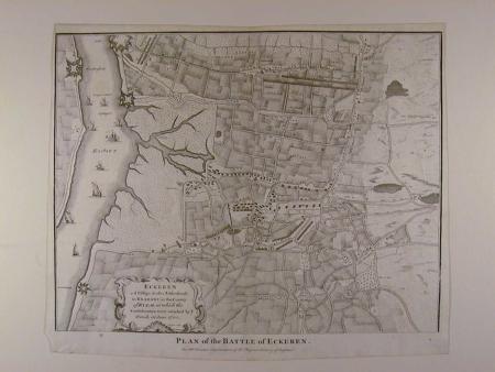 Plan of the Battle of Eckeren by Isaac Basire