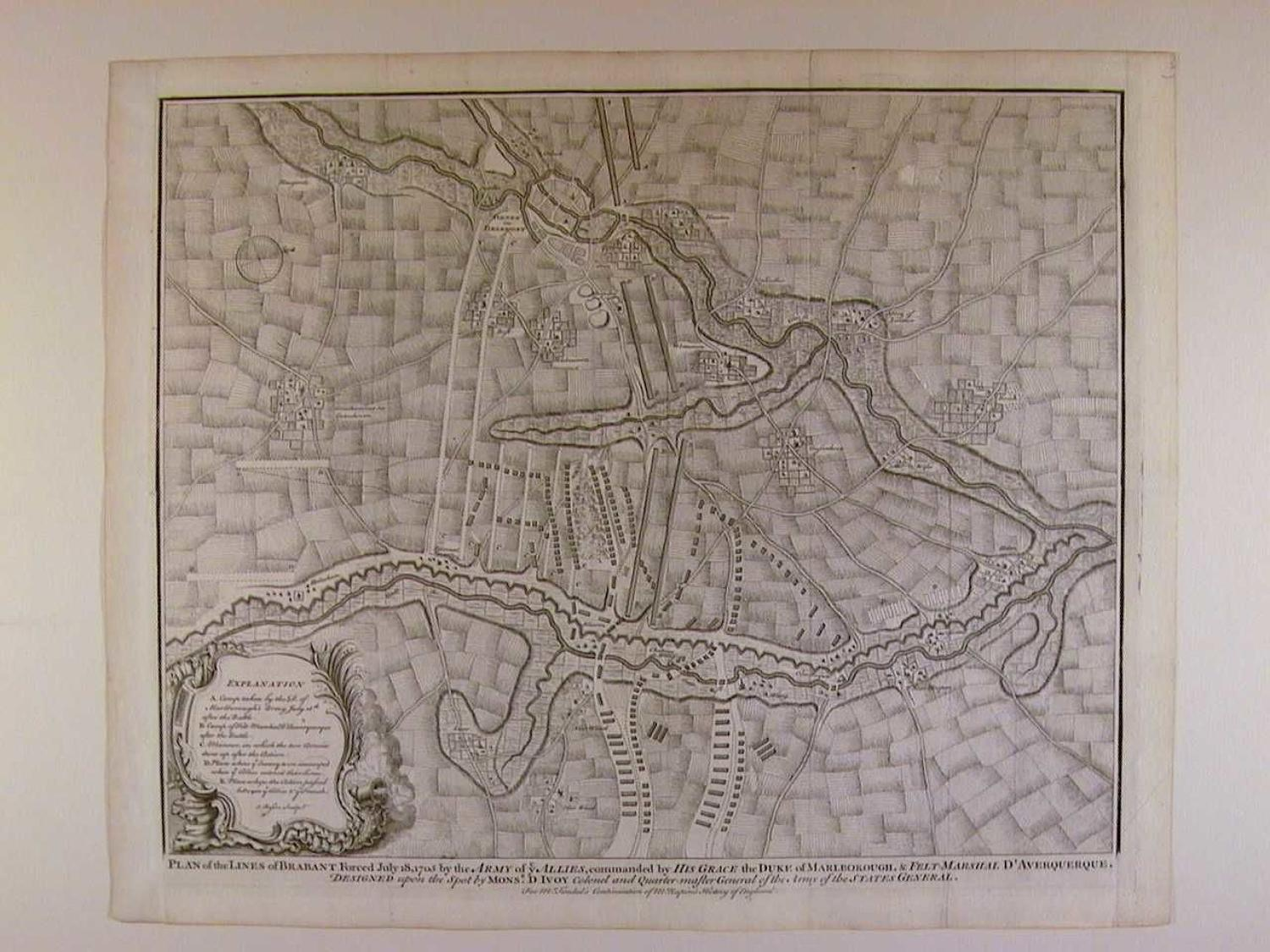 Plan of the Lines of Brabant Forced July 18, 1705 by the Army of the A by Isaac Basire