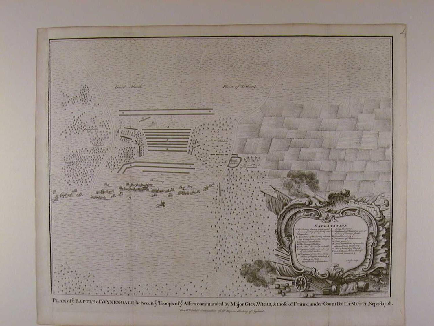 Plan of the Battle of Wynendale. by Isaac Basire