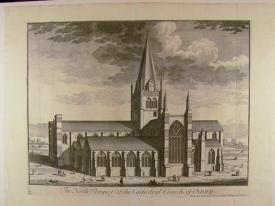 The North Prospect of the Cathedral Church of Oxford by Johannes Kip