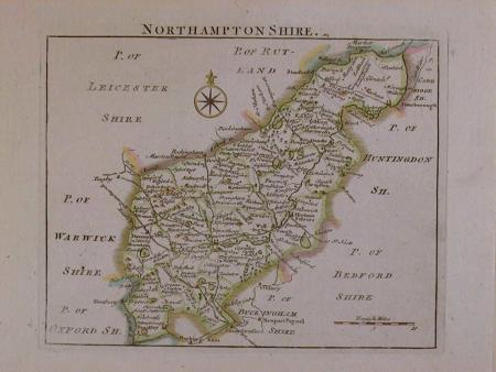 Northamptonshire by John Rocque