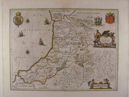 (Cardiganshire) Ceretica sive Cardiganensis by Johannes Jansson
