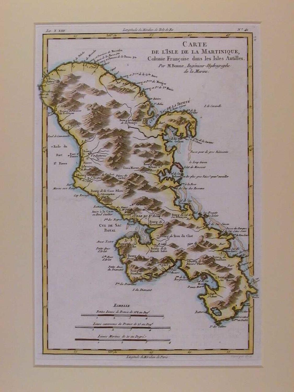 Carte De L'Isle De La Martinique, Colonie Francoise dans les Isles Ant