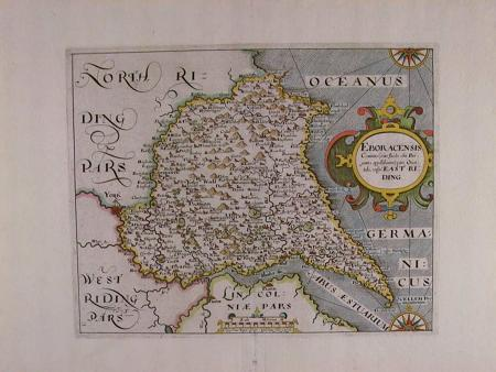 Eboracensis Comitatus pars Septentrionalis vulgo by Christopher Saxton
