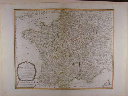 A New Map of the Kingdom of France by Robert Laurie / James Whittle