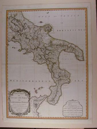 A New Map of Sicily The First or the Kingdom of Naples by Robert Lauri