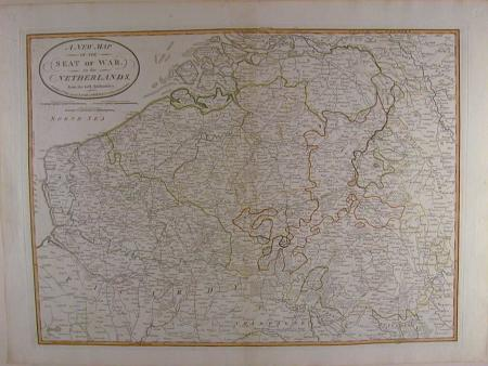 A New Map of the Seat of War in the Netherlands by Robert Laurie / Jam