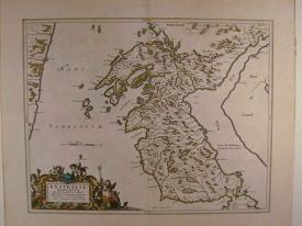 Knapdalia Provincia by Johannes Blaeu /Timothy Pont