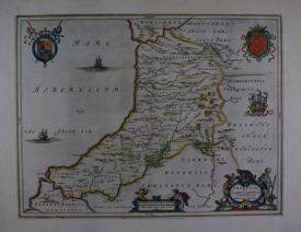 (Cardiganshire) Ceretica sive Cardiganensis by Johannes Blaeu