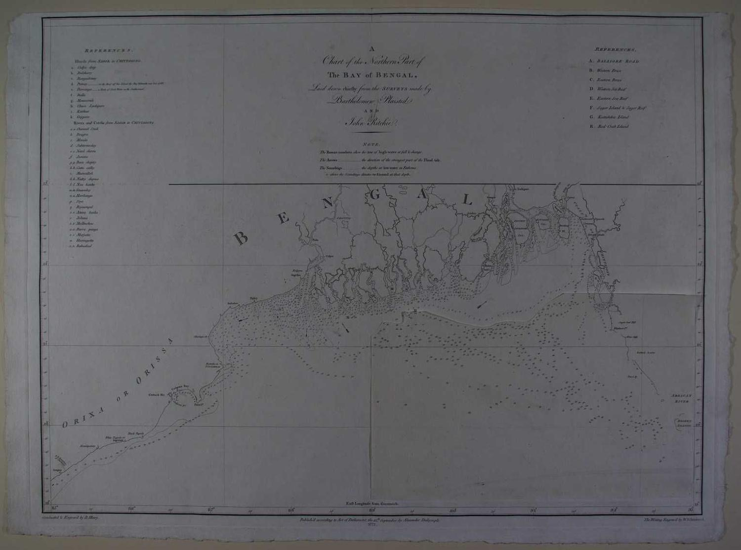 A Chart of the Northern Part of the Bay of Bengal, by John Ritchie