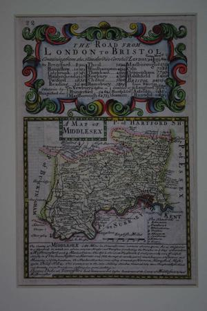 A Map of Middlesex by John Owen / Emanuel Bowen