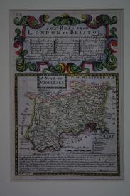 A Map of Middlesex by John Owen / Emanuel Bowen