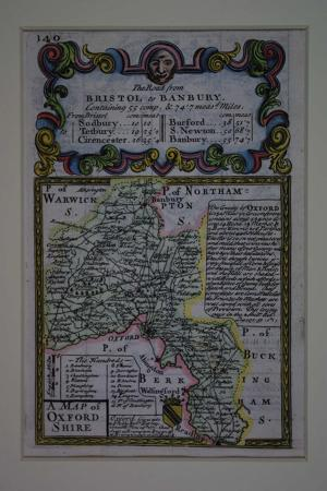 A Map of Oxfordshire by John Owen / Emanuel Bowen