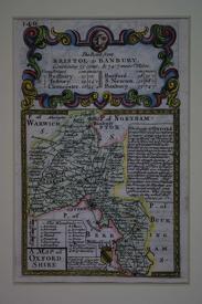 A Map of Oxfordshire by John Owen / Emanuel Bowen