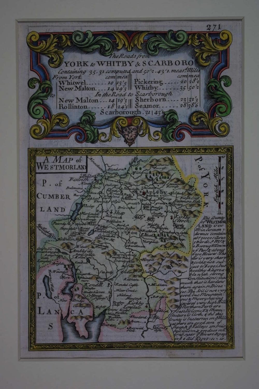 A Map of  Westmorland by John Owen / Emanuel Bowen