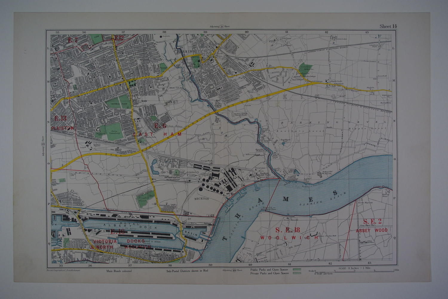 London: East HamE.16 Victoria Docks & North Woolwich/Abbey Wood by George Washington Bacon
