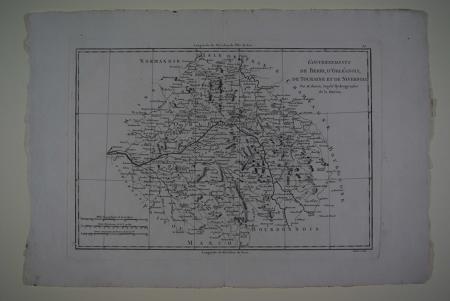 Gouvernements de Berri, D'Orleanois,de Touraine et de Nivernois