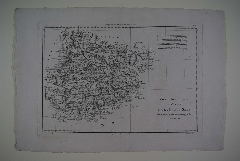 Partie Meridionale du Cercle de la Haute Saxe by Rigobert Bonne