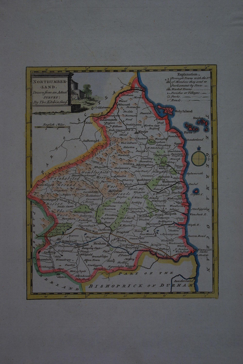 Northumberland Drawn from an actual survey by Thomas Kitchin