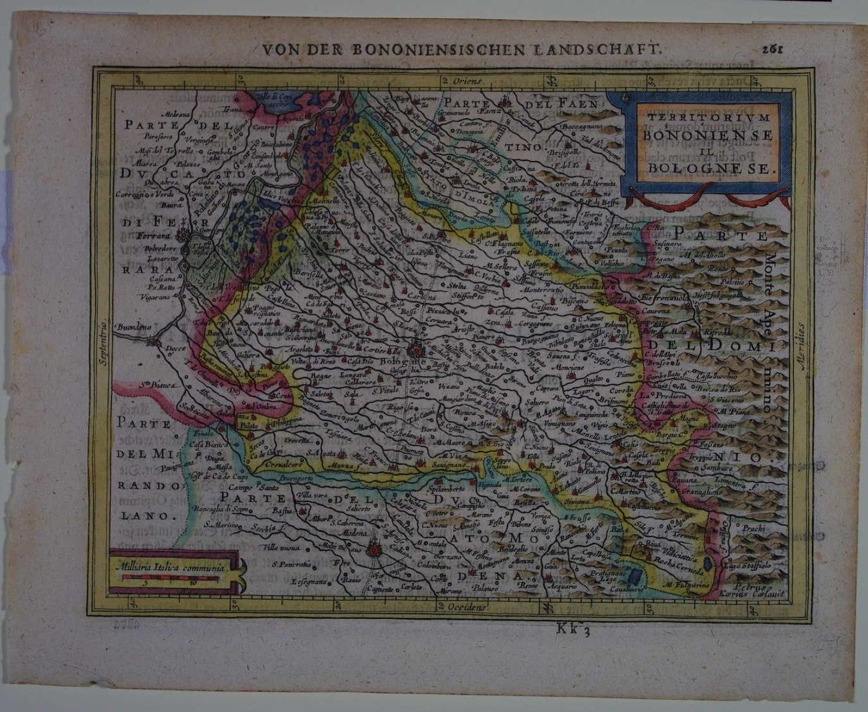Territorium Bononiense il Bolognese by Pieter Van den Keere / Mercator