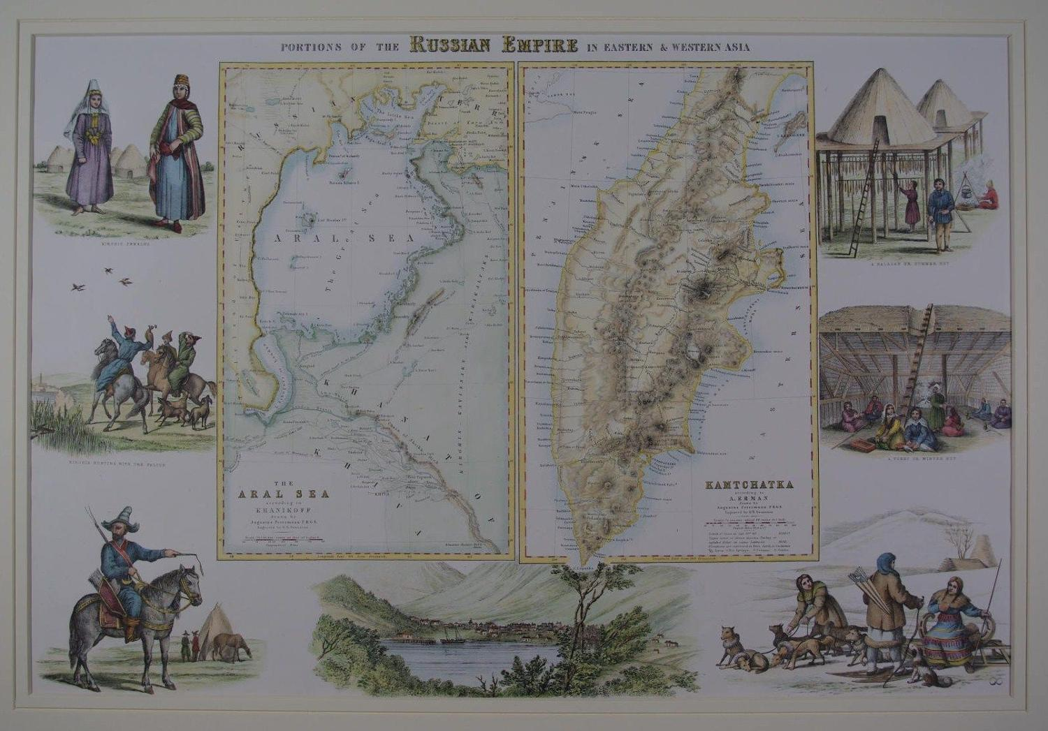 Portions of the Russian Empire in Eastern & Western Asia by Archibald