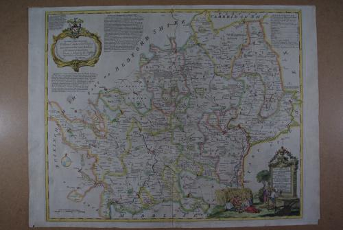 A New Improved Map of Hartfordshire from the Best Surveys and Intellig