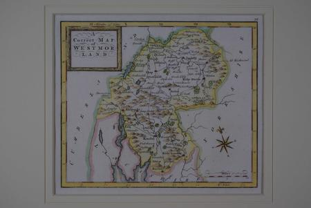 A Correct Map of Westmorland by Thomas Osborne