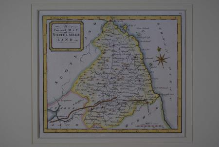 A Correct Map of Northumberland by Thomas Osborne
