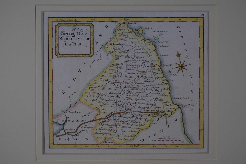A Correct Map of Northumberland by Thomas Osborne