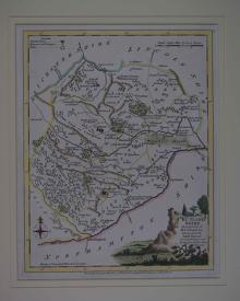 A Modern Map of  Rutland-Shire by Joseph Ellis