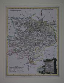 A Modern Map of  Huntingdon Shire by Joseph Ellis