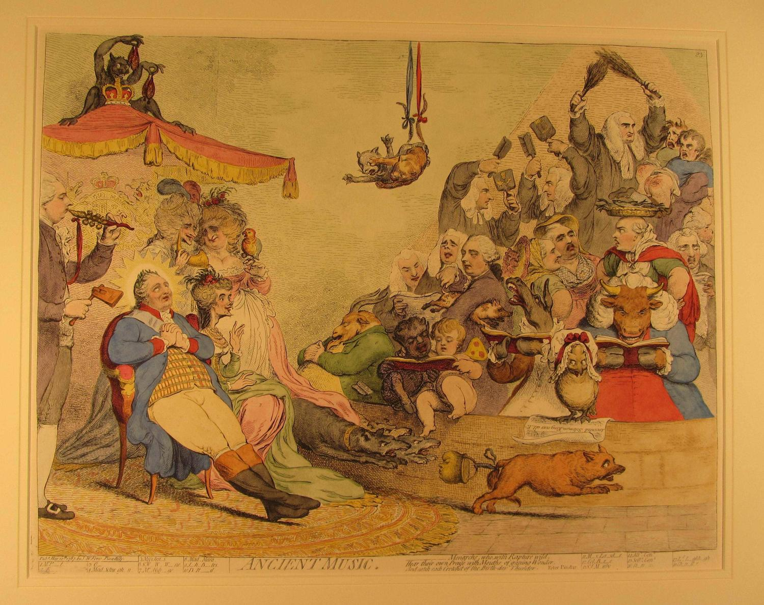 Ancient Music by James Gillray