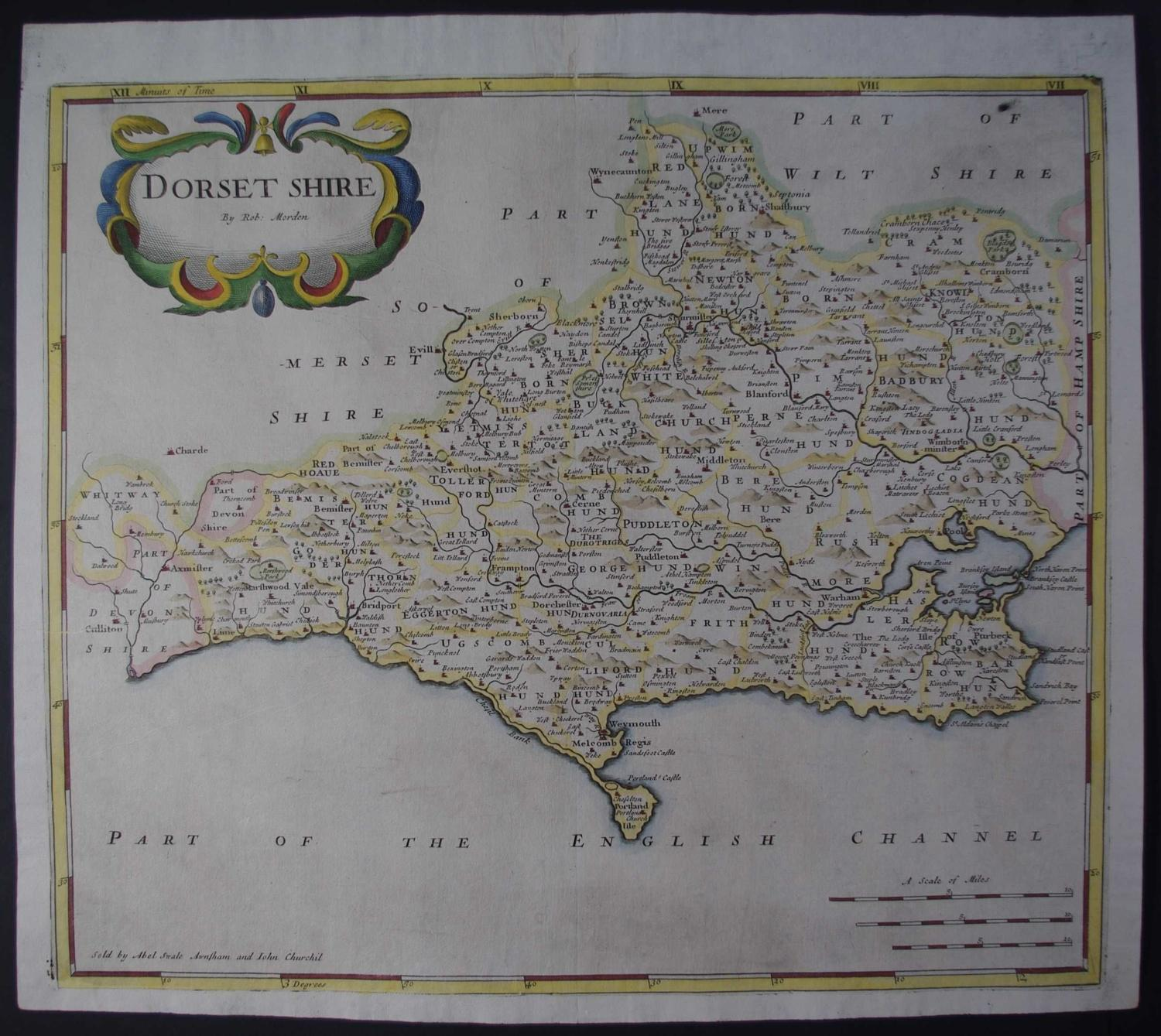 Dorset Shire (Dorset) 1st edition 1695 by Robert Morden