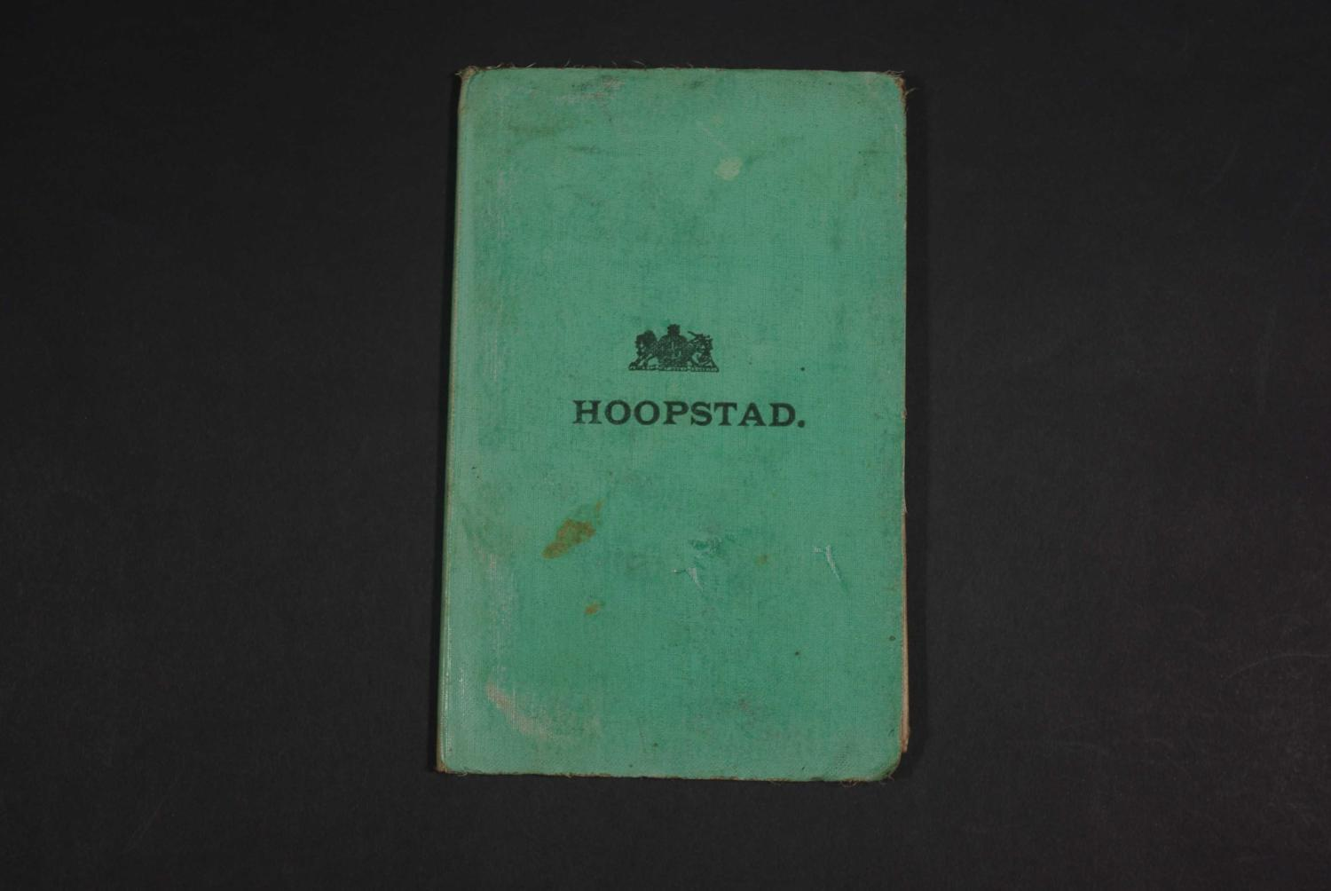 Hoopstad 1st Edition by Field Intelligence Department
