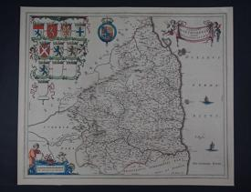 Comitatus Northumbria by Johannes Blaeu