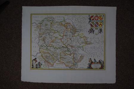 Herefordia Comitatus vernacule Hereford shire by Jan Jansson