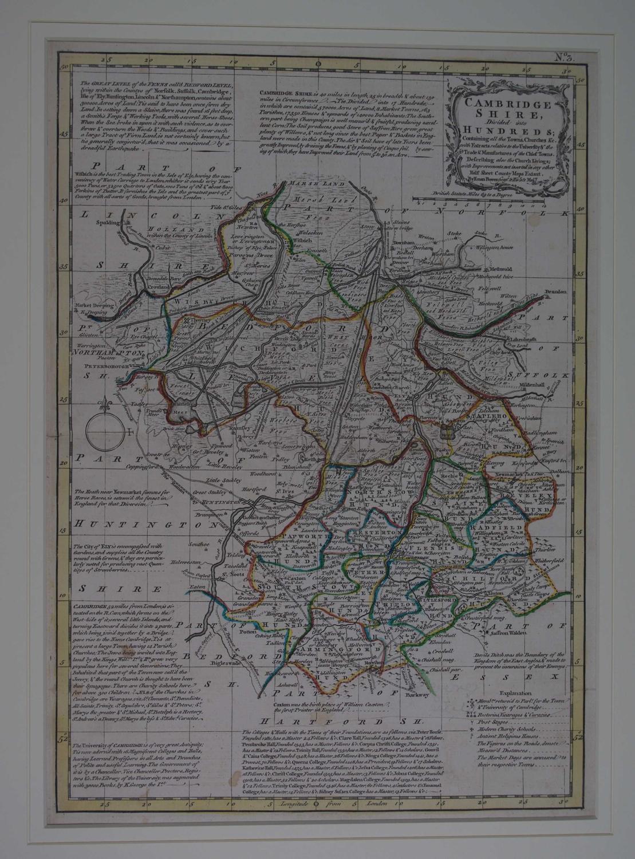 Cambridge Shire by Emanuel Bowen / Thomas Kitchin