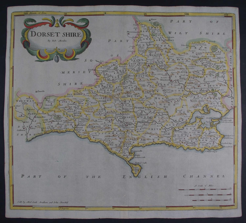 Dorset Shire (Dorset) 1st edition 1695 by Robert Morden