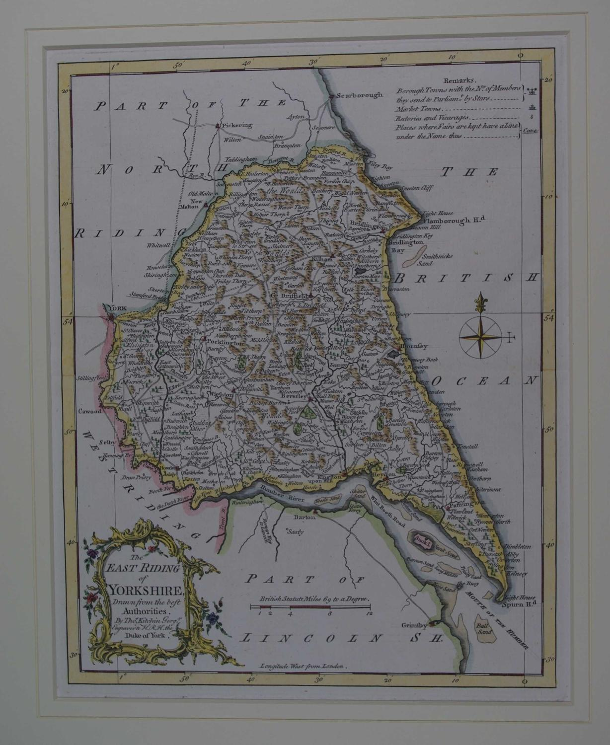The East Riding of Yorkshire Drawn from the best Authorities by Thomas Kitchin