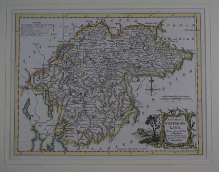 A New Map of  Westmoreland, Drawn from the best Authorities by Thomas