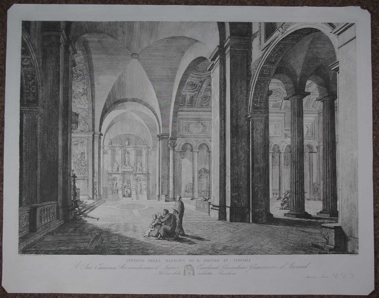 Interno Della Basilica di S. Pietro in Vincoli by Antonio Sarti