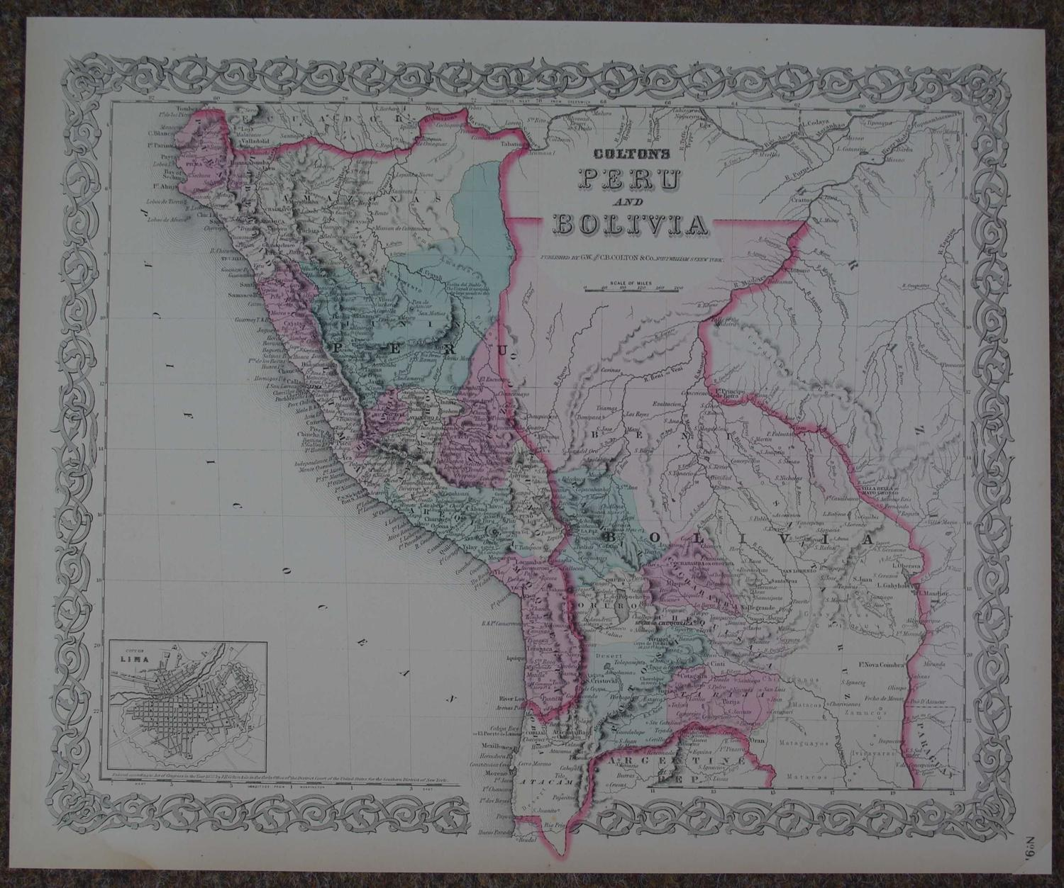 Colton's Peru and Bolivia