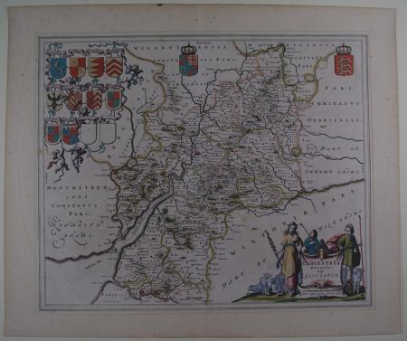 Glocestriae ducatus  vulgo Glocestershire by Johannes Blaeu