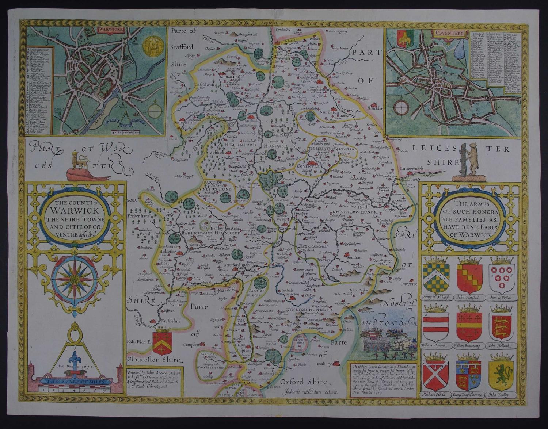 The Counti of Warwick (Warwickshire) by John Speed