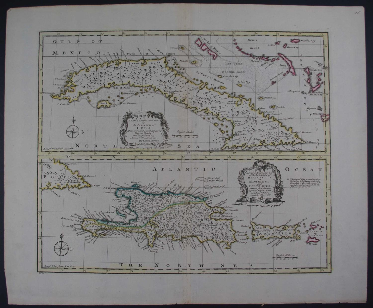 A New and Accurate Map of the island of Cuba by Emanuel Bowen